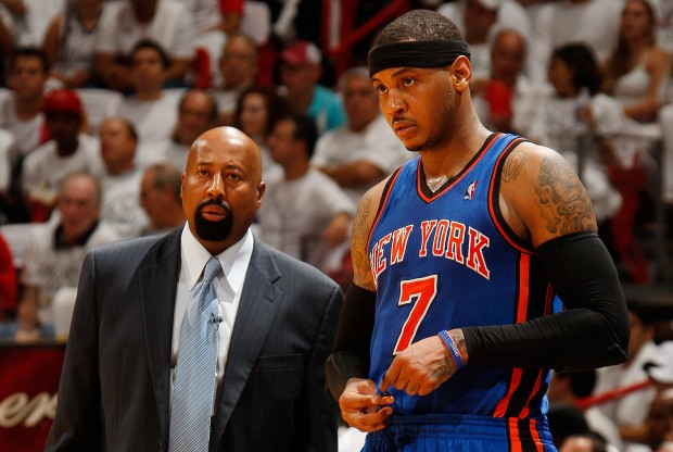 Mike Woodson y Carmelo Anthony./ Getty Images