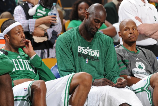 Paul Pierce, Kevin Garnett y Ray Allen./ Getty Images