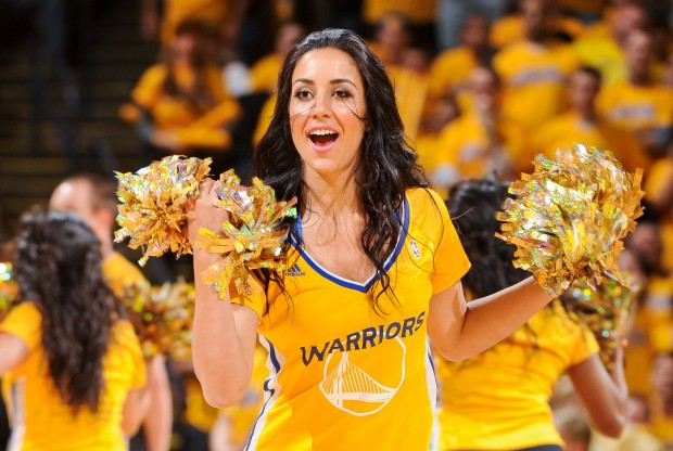 Cheerleader de Golden State Warriors./ Getty Images