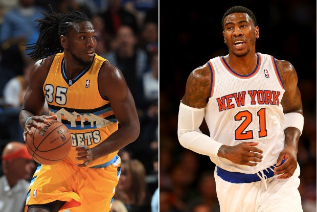 Kenneth Faried e Iman Shumpert./ Getty Images