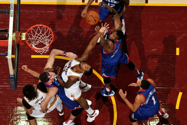 Cleveland Cavaliers vs. Philadelphia 76ers./ Getty Images