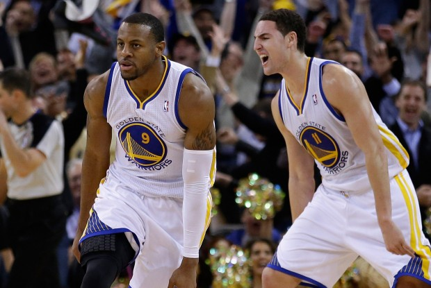 Andre Iguodala y Klay Thompson./ Getty Images