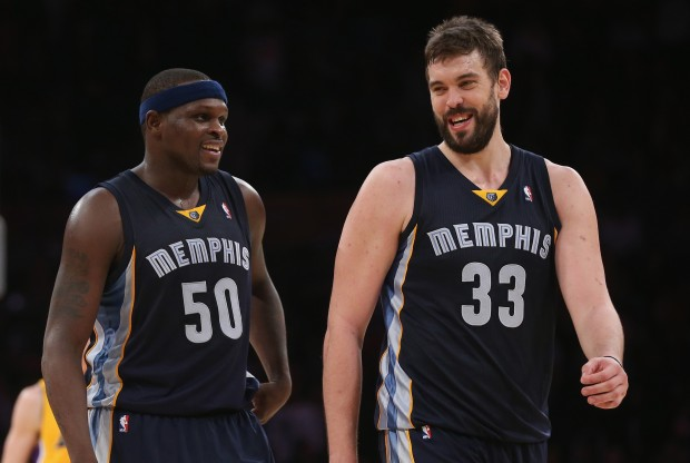 Zach Randolph y Marc Gasol./ Getty Images