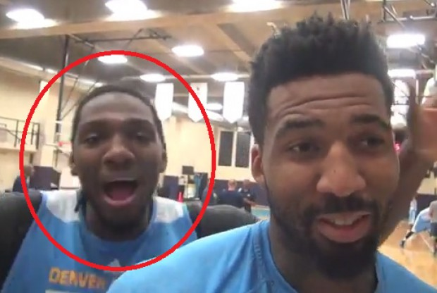 Kenneth Faried y Wilson Chandler