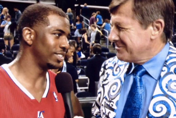 Chris Paul y Craig Sager./ Getty Images