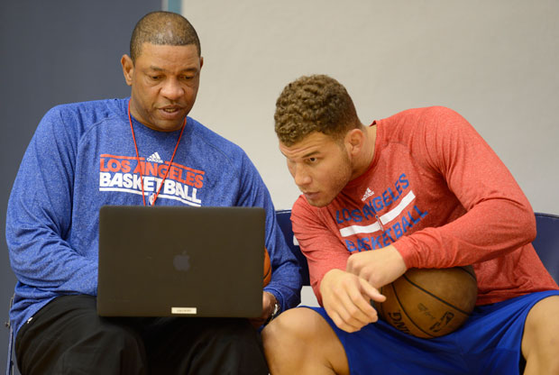 Doc Rivers y Blake Griffin / Getty Images