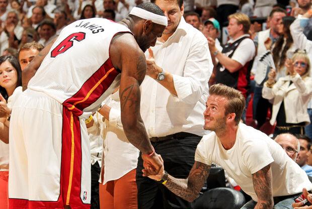 LeBron James y David Beckham / Getty Images