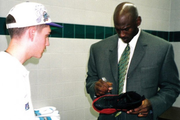 Michael Jordan y Preston Truman./ Getty Images