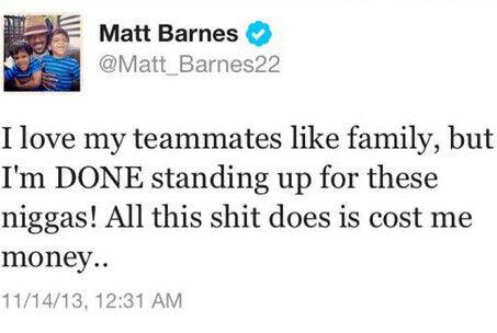 Twitter Matt Barnes