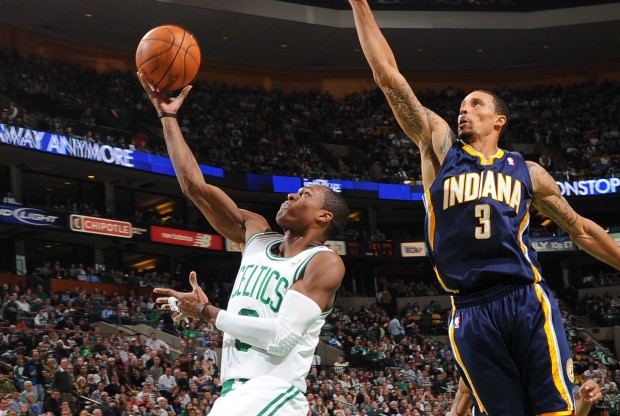 Rajon Rondo y George Hill./ Getty Images