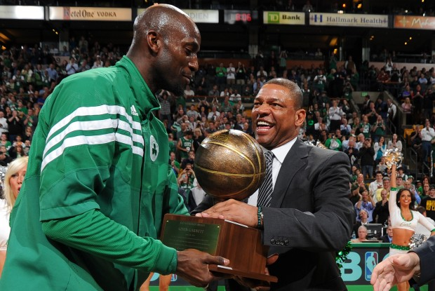 Kevin Garnett y Doc Rivers./ Getty Images