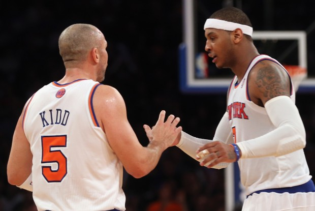 Jason Kidd y Carmelo Anthony./ Getty Images