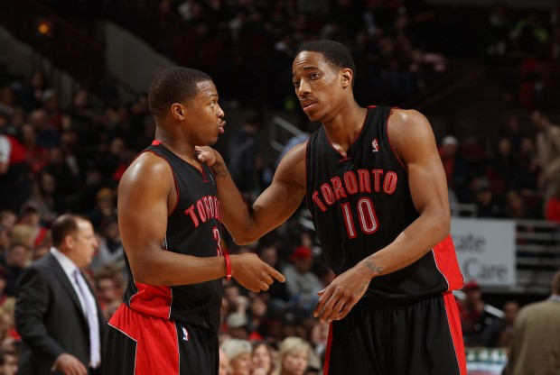 Kyle Lowry y DeMar DeRozan./ Getty Images