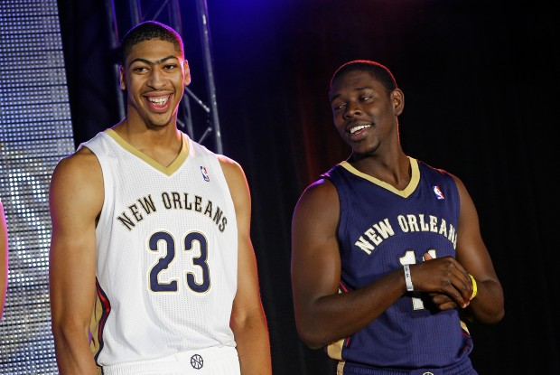 Anthony Davis y Jrue Holiday./ Getty Images