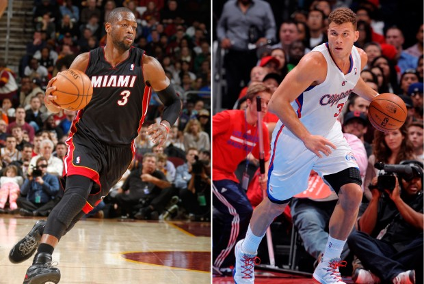 Dwyane Wade y Blake Griffin./ Getty Images