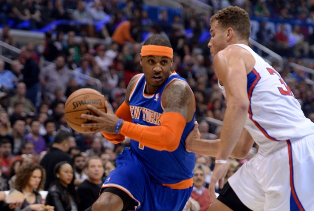 Carmelo Anthony y Blake Griffin./ Getty Images