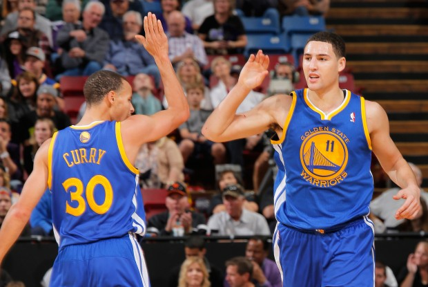 Stephen Curry y Klay Thompson./ Getty Images