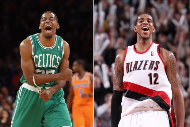 Jordan Crawford y LaMarcus Aldridge./ Getty Images