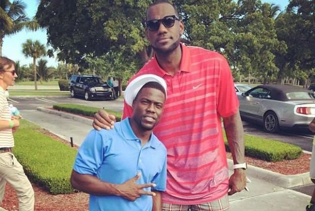 LeBron James y Kevin Hart