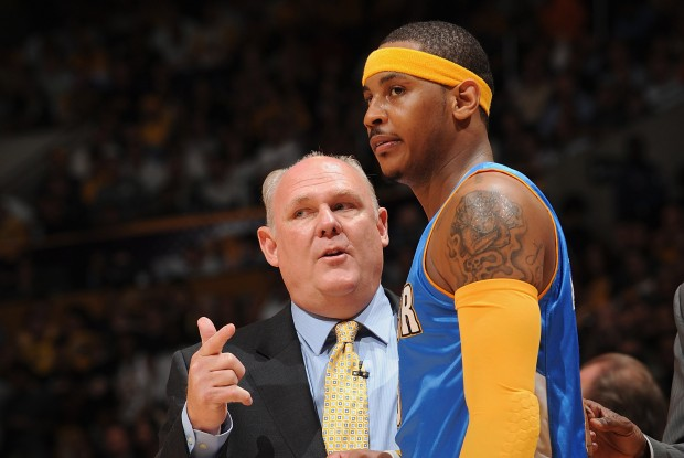 George Karl y Carmelo Anthony./ Getty Images