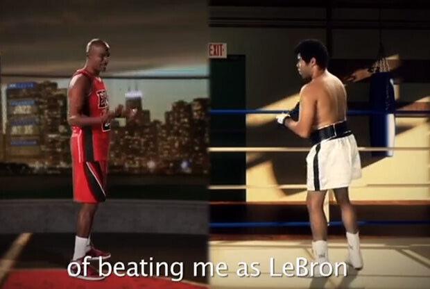 La batalla rapera entre Michael Jordan y Muhammad Ali