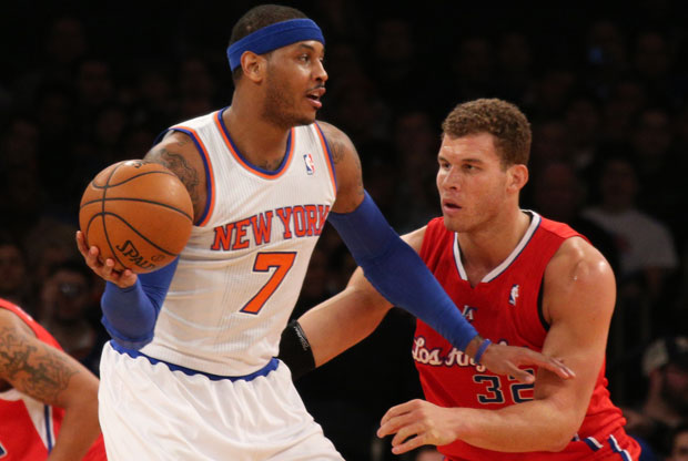 Carmelo Anthony y Blake Griffin / Getty Images