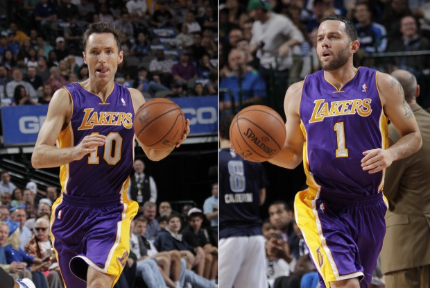 Steve Nash y Jordan Farmar./ Getty Images