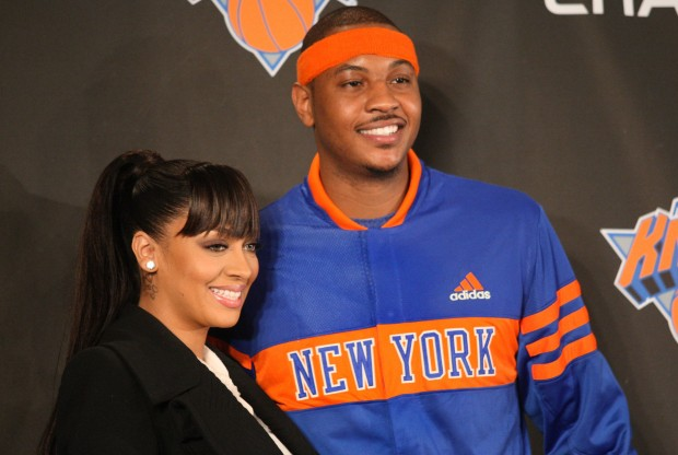 LaLa Vasquez y Carmelo Anthony./ Getty Images