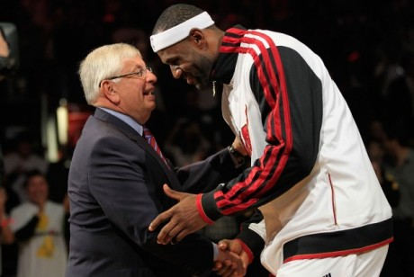 David Stern y LeBron James./ Getty Images