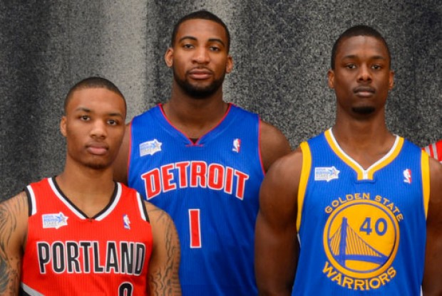 Damian Lillard, Andre Drummond y Harrison Barnes./ Getty Images