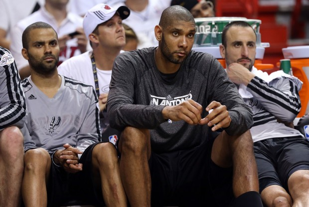 Tony Parker, Tim Duncan y Manu Ginobili./ Getty Images