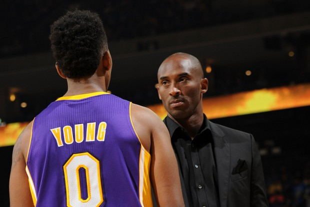 Nick Young y Kobe Bryant./ Getty Images