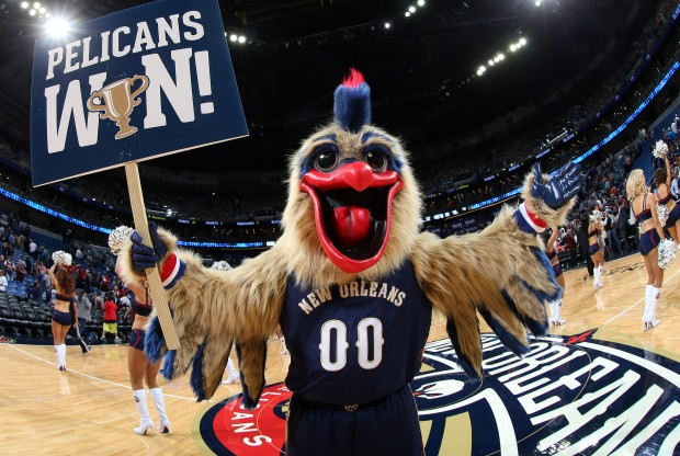 Mascota New Orleans Pelicans./ Getty Images