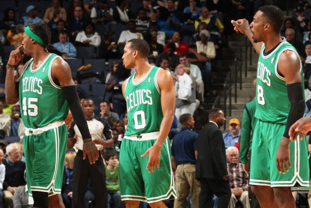 Gerald Wallace, Avery Bradley y Jeff Green./ Getty Images
