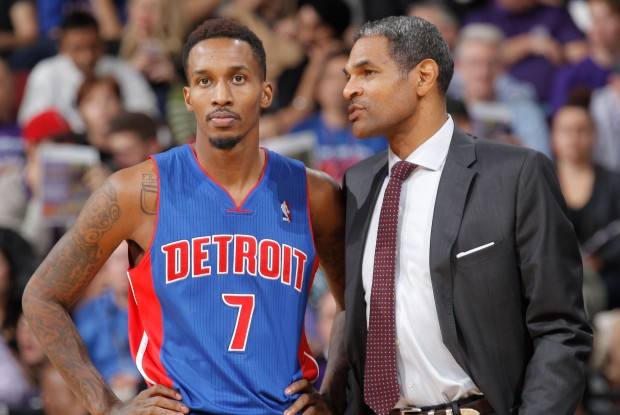 Brandon Jennings y Maurice Cheeks./ Getty Images