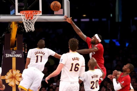 Miami Heat vs. Los Angeles Lakers./ Getty Images