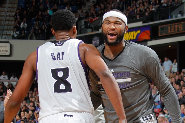 Rudy Gay y DeMarcus Cousins./ Getty Images