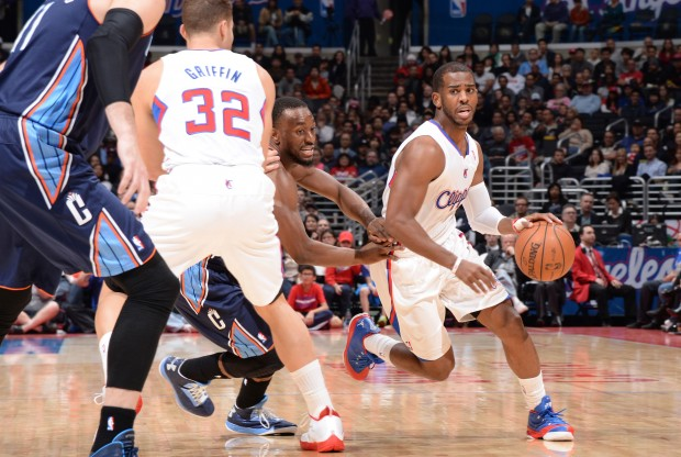 Chris Paul y Blake Griffin ejecutan el 'pick-and-roll'./ Getty Images