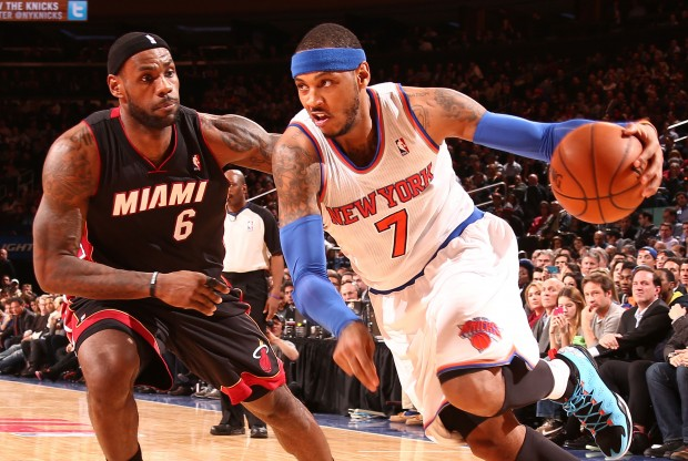 Carmelo Anthony supera a LeBron James en velocidad./ Getty Images