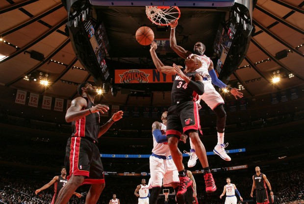 Miami Heat vs. New York Knicks./ Getty Images