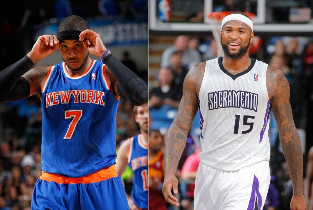 Carmelo Anthony y DeMarcus Cousins./ Getty Images