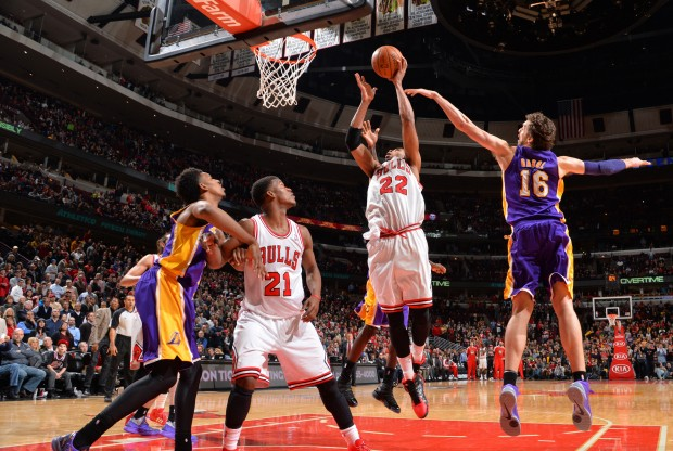 Chicago Bulls vs. Los Angeles Lakers./ Getty Images