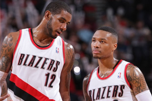 LaMarcus Aldridge y Damian Lillard./ Getty Images