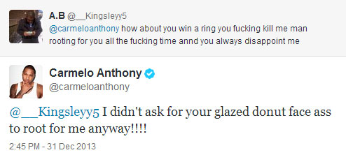 Carmelo Anthony Twitter
