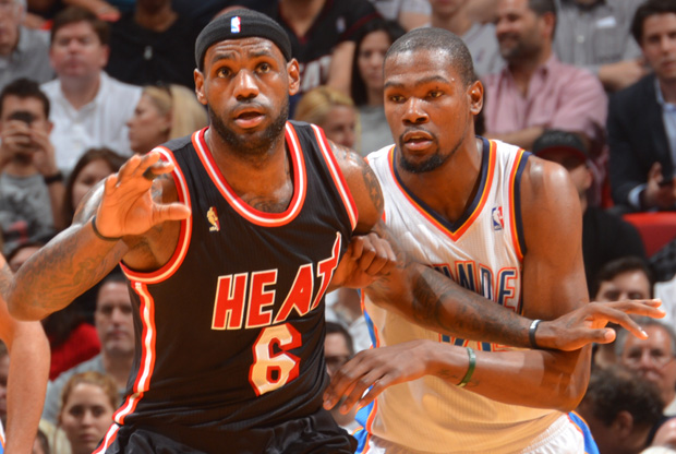LeBron James y Kevin Durant / Getty Images