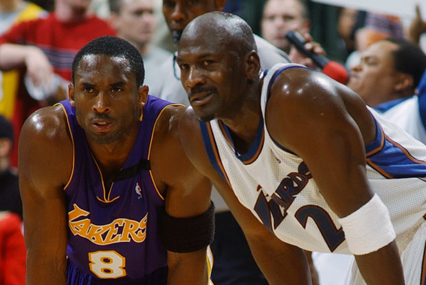 Kobe Bryant y Michael Jordan / Getty Images