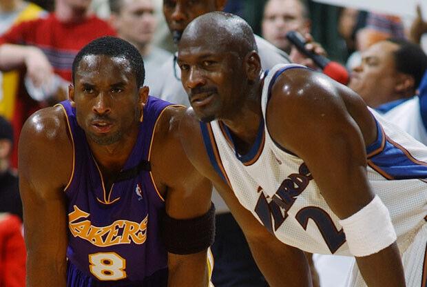 Kobe Bryant y Michael Jordan / Getty Images