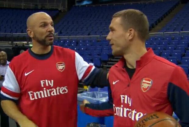Jason Kidd y Lukas Podolski