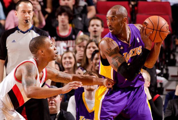 Damian Lillard y Kobe Bryant / Getty Images