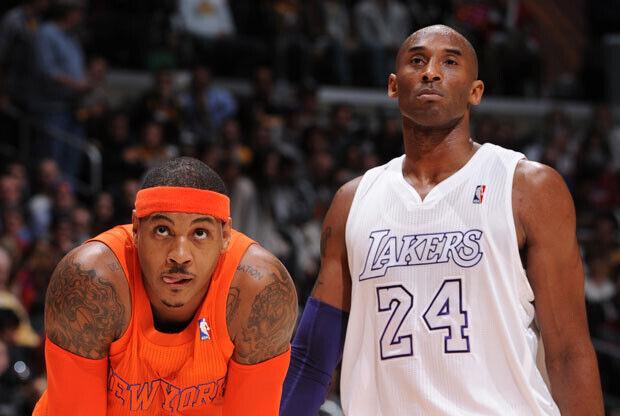 Carmelo Anthony y Kobe Bryant / Getty Images